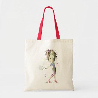 Miss-fit Girl Plays Tennis! Tote Bag