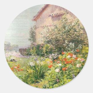 Miss Florence Griswold's Garden Round Sticker