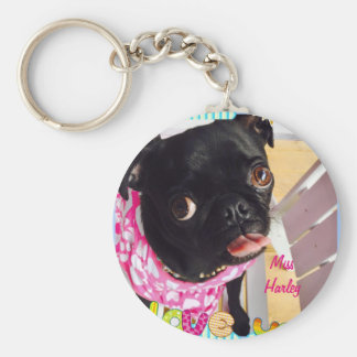 Miss Harley Loves You Basic Round Button Keychain