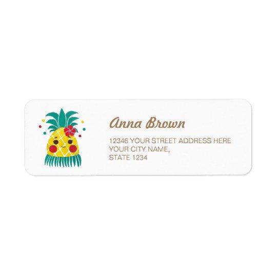 Miss Hawaiian Pineapple Return Address Label