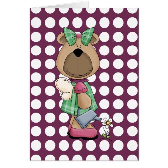 Miss Honey Bear Friendship Greeting Card