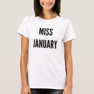 Miss January birthday girl funny T-Shirt