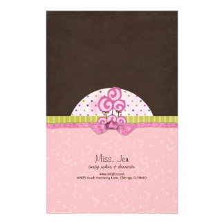 Miss. Jen Basket Candy Bar Wrappers Personalized Stationery