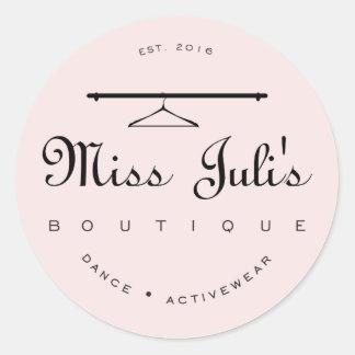 Miss Juli Round Sticker, Glossy Classic Round Sticker