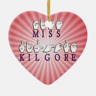 MISS KILGORE DARKER PURPLE CERAMIC HEART ORNAMENT