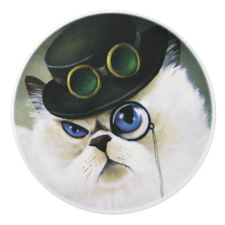Miss. Kitty Bartholomew Ceramic Knob