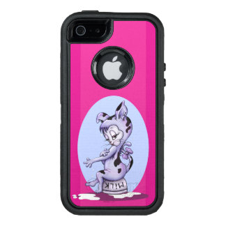 MISS KITTY CARTOON  Apple iPhone SE/5/5s  DF BLACK