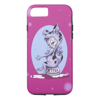 MISS KITTY CAT CARTOON  Apple iPhone 7  Tough Case-Mate iPhone Case