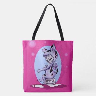 MISS KITTY CAT CARTOON FUNNY TOTE BAG