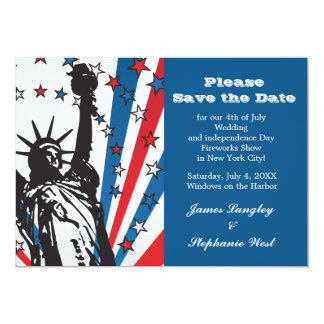 Miss Liberty Patriotic Invitation