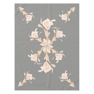 Miss Lilly rose Gold Gray Tablecloth