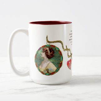 Miss Lily Elsie (Ceramic Mug) Two-Tone Coffee Mug