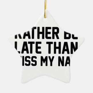Miss My Nap Ceramic Star Ornament