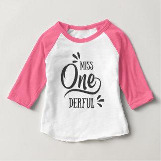 Miss One'derful Raglan Baby T-Shirt