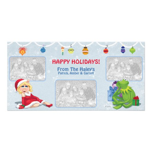 Miss Piggy & Kermit Holiday Photo Card