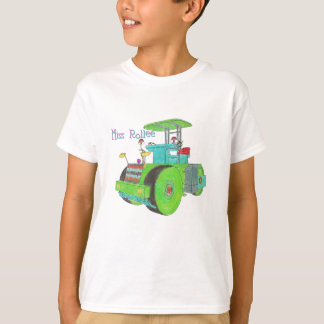 Miss Rollee construction vehicle road roller T-Shirt