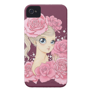 Miss Rose BlackBerry Bold case (pink/maroon)