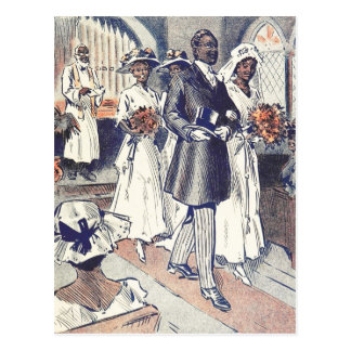 Miss Samantha Johnson's Wedding Postcard