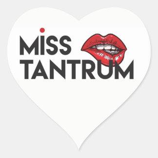 Miss Tantrum Heart Sticker