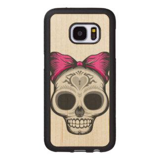 Miss Thang Sugar Skull Wood Samsung Galaxy S7 Case