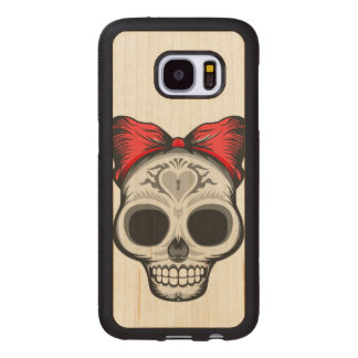 Miss Thang Sugar Skull Wood Samsung Galaxy S7 Case