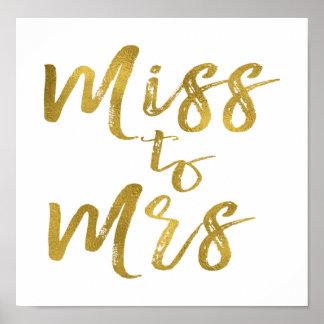Miss to Mrs Bridal Shower Poster Banner