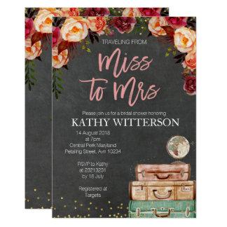 Miss To Mrs Travel Invitations