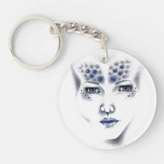 Miss Universe Alien Lady Original Art Keychain
