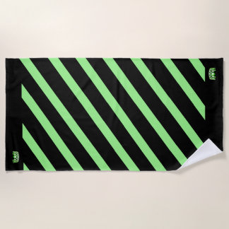 Miss USA Apple Green Stripe Crown Beach Towel
