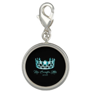 Miss USA Aqua Crown SP Charm-Custom Name Charm