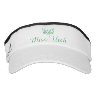 Miss USA Aqua Green Crown Visor  Hat