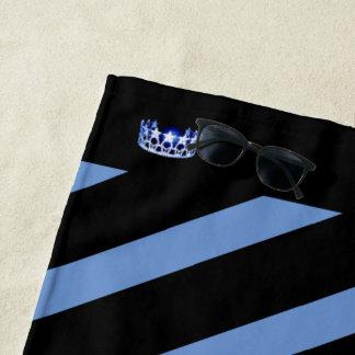 Miss USA Blue Stripe Crown Beach Towel
