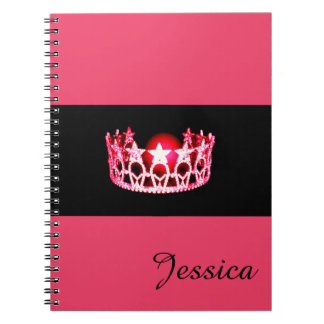 Miss USA Cherry Crown Notebook- Custom Name Notebook