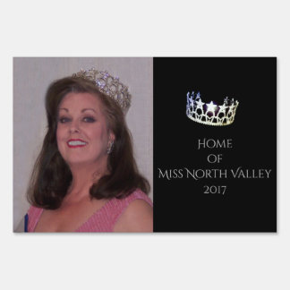 Miss USA Crown Custom Image Yard Sign
