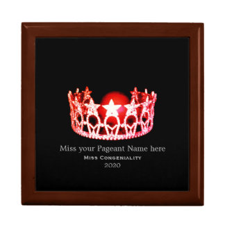 Miss USA Fire Red Crown Awards Jewelry Box