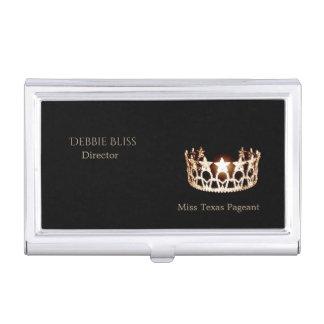 Miss USA Gold Crown Business Card Holder