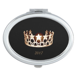 Miss USA Gold Crown Compact Mirror w/Date