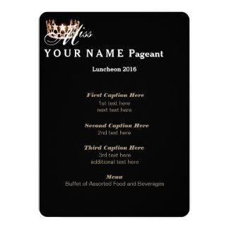 "Miss USA Gold Crown Luncheon Program Card 5.5"" X 7.5"" Invitation Card"