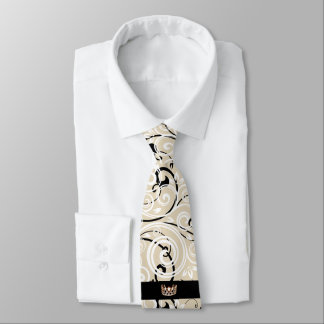Miss USA Gold Crown Men's Flourish Tie