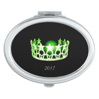 Miss USA Green Crown Compact Mirror w/Date