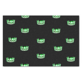 Miss USA Green Crown Tissue Paper