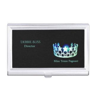Miss USA Mint Crown Business Card Holder