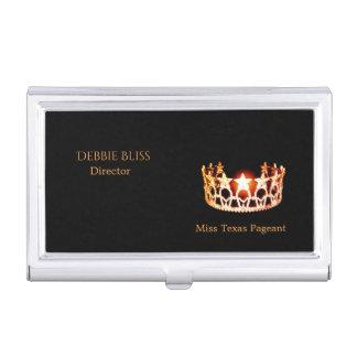 Miss USA Orange Crown Business Card Holder