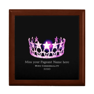 Miss USA Orchid Crown Awards Jewelry Box