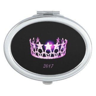 Miss USA Orchid Crown Compact Mirror w/Date