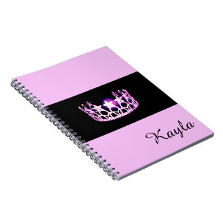 Miss USA Orchid Crown Notebook- Custom Name Notebook