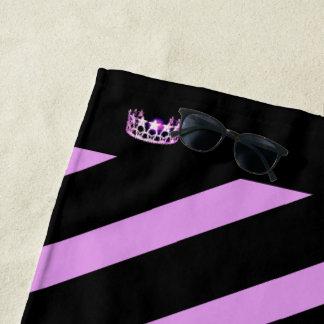 Miss USA Orchid Stripe Crown Beach Towel