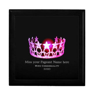 Miss USA Pink Crown Awards Jewelry Box