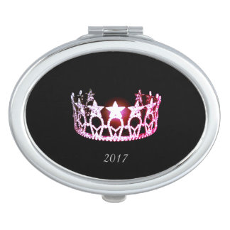 Miss USA Pink Crown Compact Mirror w/Date