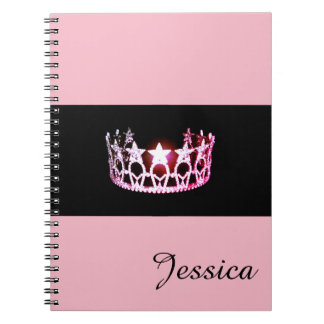 Miss USA Pink Crown Notebook- Custom Name Notebooks